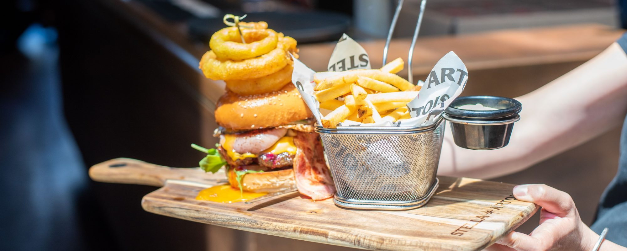 The Wembley Hotel's legendary Home Made Beef Burger
